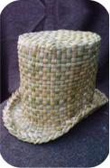 Top hat woven in common bulrush